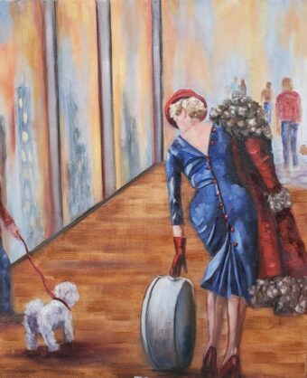 At The Station - Lolli Hollsten - 20'' x 24'' - Acrylic on Canvas