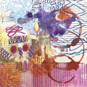 Festividades / Holidays - Angeles Salinas - 8'' x 8'' - Mixed Media on Paper