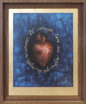 The Heart has its Reasons that the Reason Knows - Angeles Salinas - 19'' x 23'' - Oil on Wood
