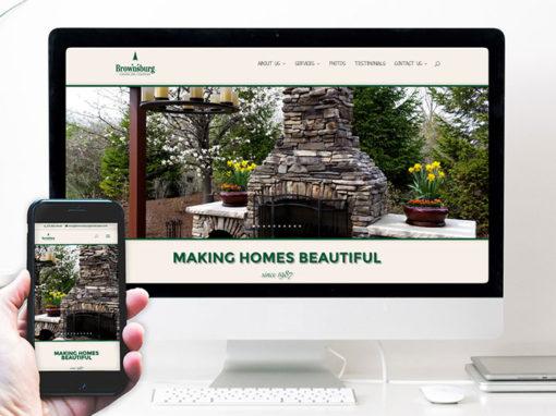 Brownsburg Landscape – website design