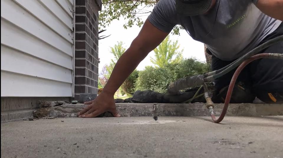 Video of CVCR raising a sunken slab