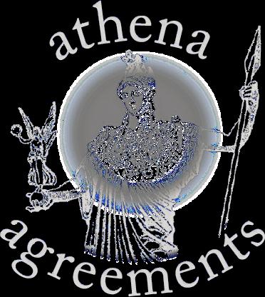 Athena logo Reverse Small