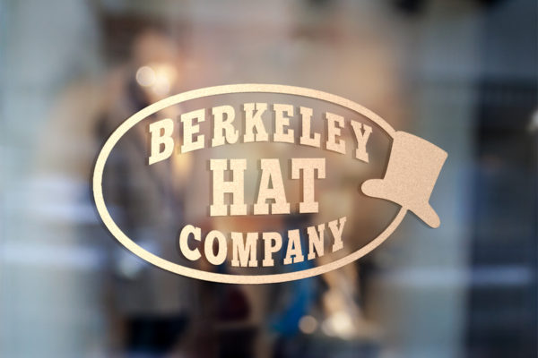 Berkeley Hat Company storefront logo designed by Michael at Inner Ink