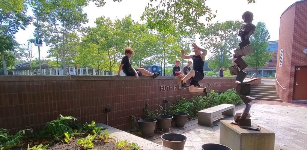 This demonstrates what we will learn in parkour.