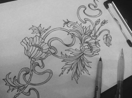 Decorative Floral Nature Tattoo