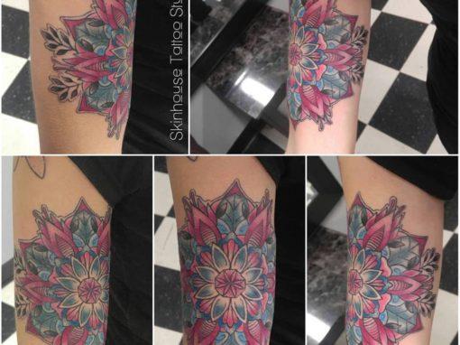 Vibrant Floral Mandala