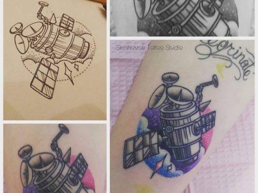 Satellite Space Tattoo