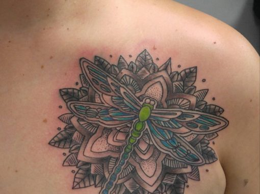 Dragon Fly Mandala Tattoo Longmont