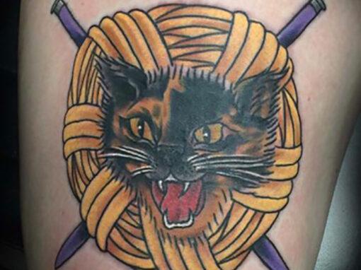 Cat Tattoo Longmont Tattoo Artist Mick Minyard