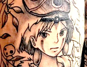 Princess Mononoke Studio Ghibli Tattoo Longmont