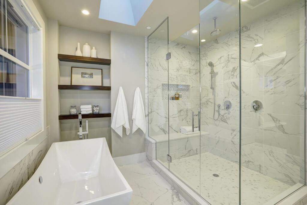 Tempered shower door glass