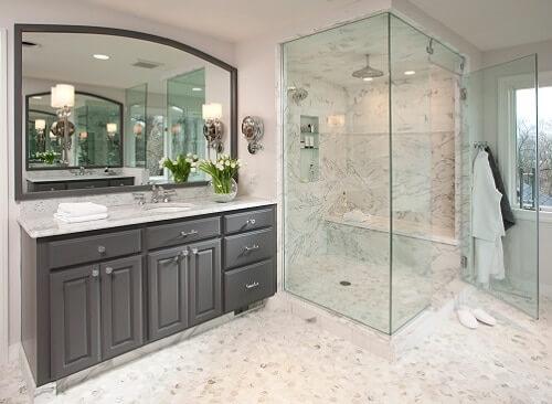 Heavy Glass steam shower