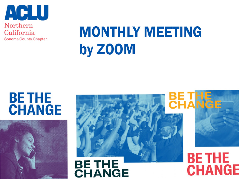 monthly meeting by ZOOM