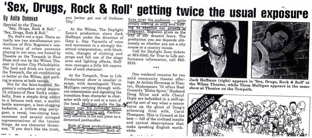'Sex, Drugs, Rock & Roll' getting twice the usual exposure Article - The Times