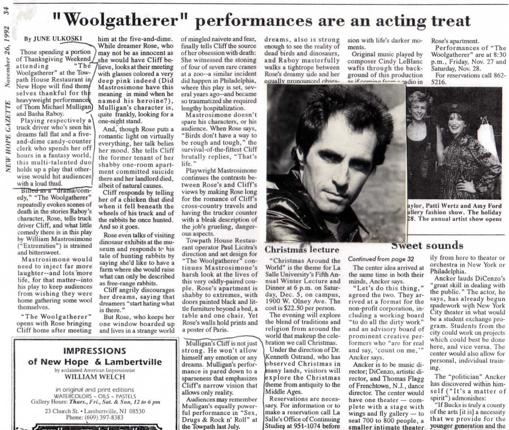"""""""Woolgatherer"""" performances are an acting treat"""