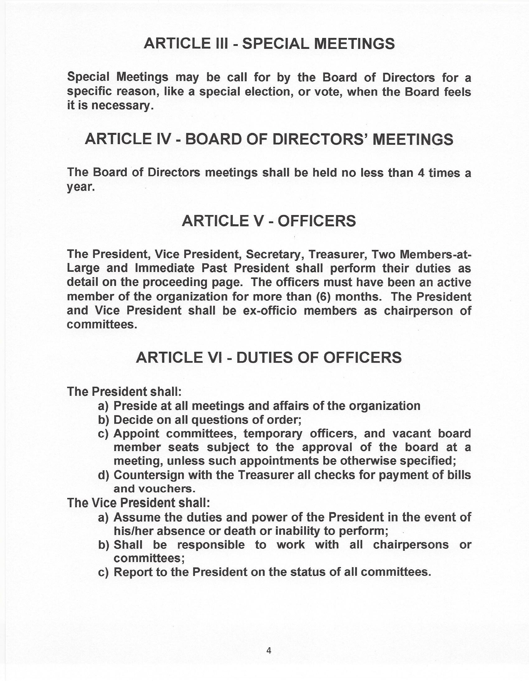 ACSD Bylaw 4 page