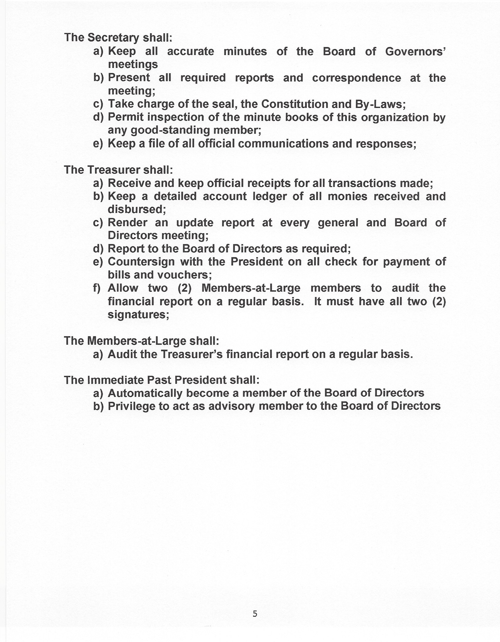 ACSD Bylaw 5 page