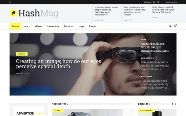HashMag by Mikado Themes