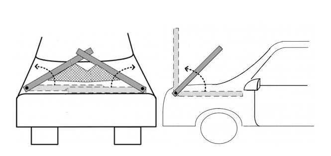The idea of nets on your car to protect