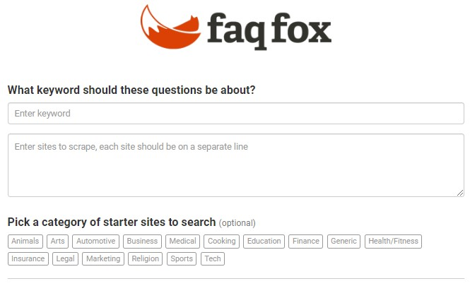 FAQfox SEO Tool
