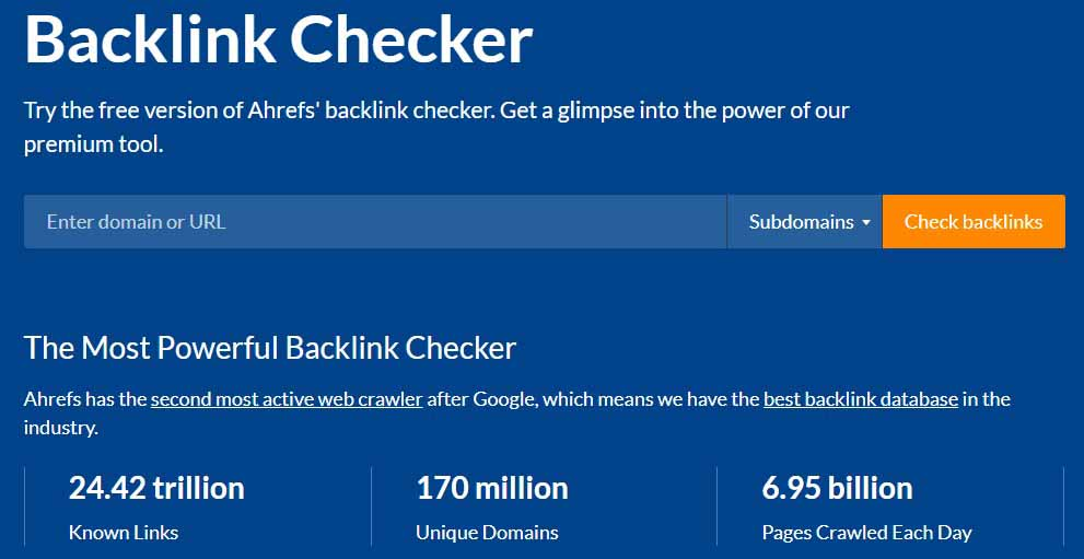 Ahrefs' Backlink Checker SEO Tool