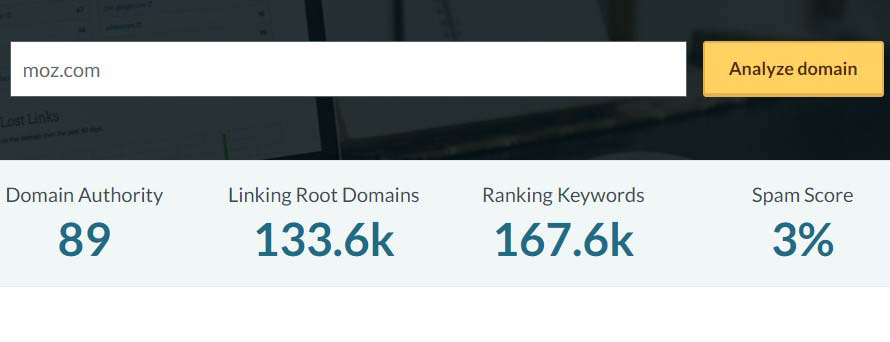 Free Domain SEO Metrics