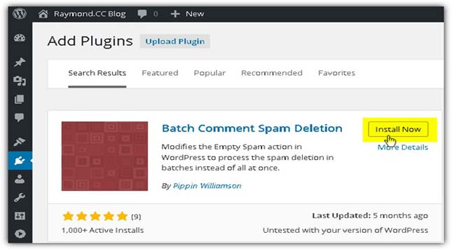 Delete your Spam Comments in Batches