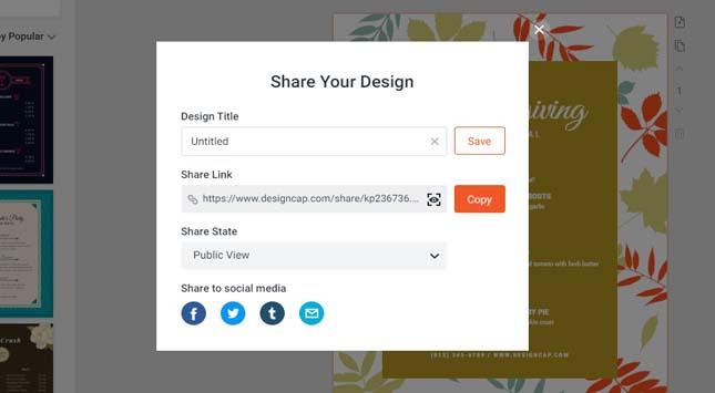 Share design & edit