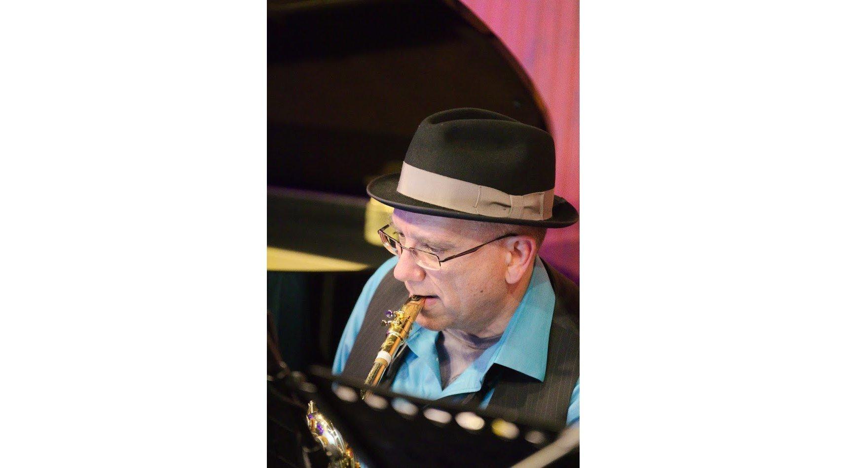 Danny playing bari sax