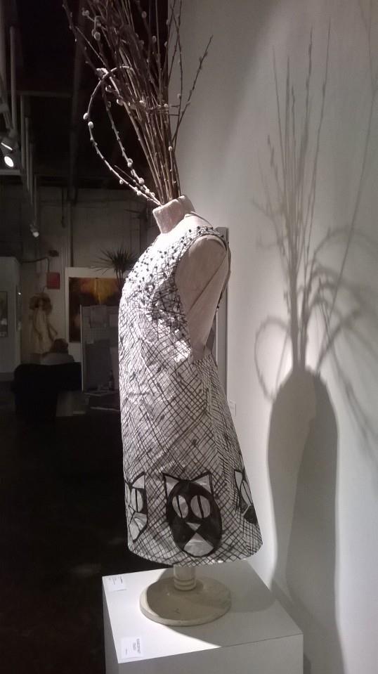 African cat dress kozo paper