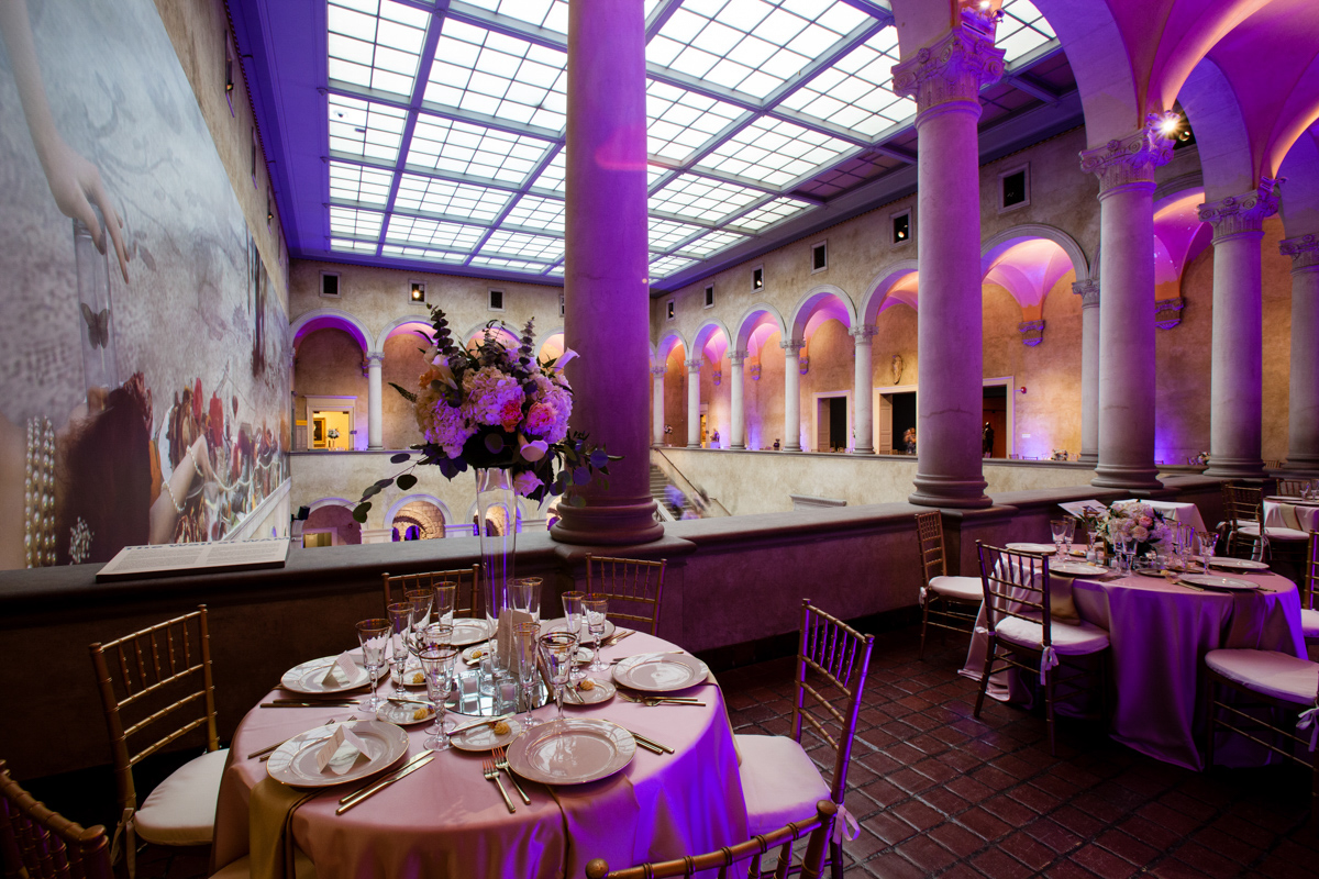 wedding at the worcester art museum