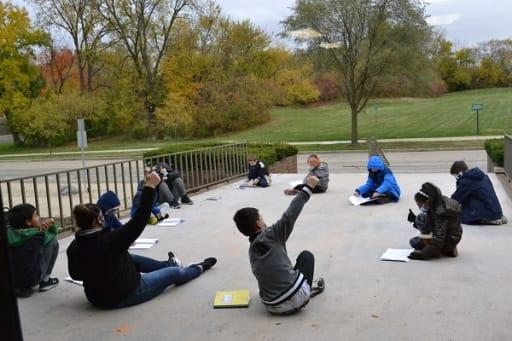 Outdoor Language Arts Class