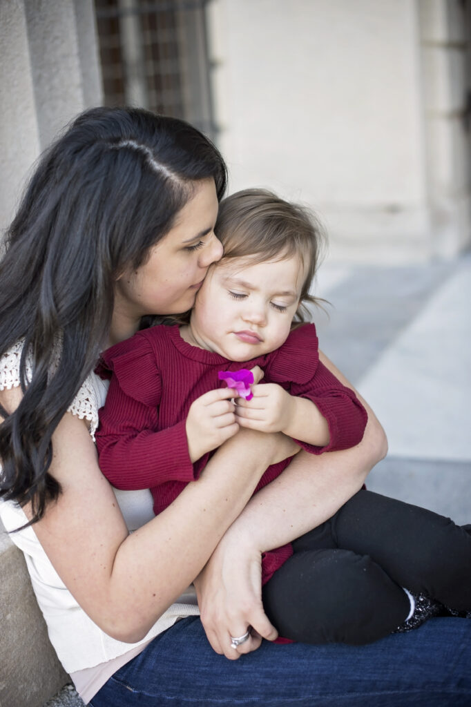 motherhood photography with daughter in Saratoga Springs NY