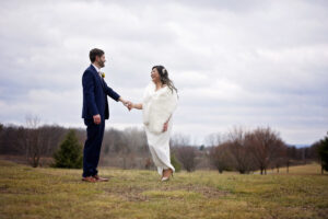 bride and groom elopement in saratoga springs ny