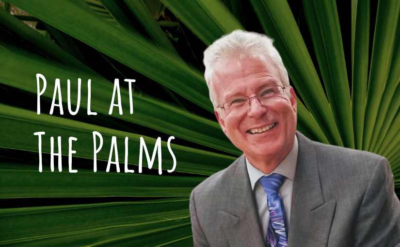 Paul at the Palms banner