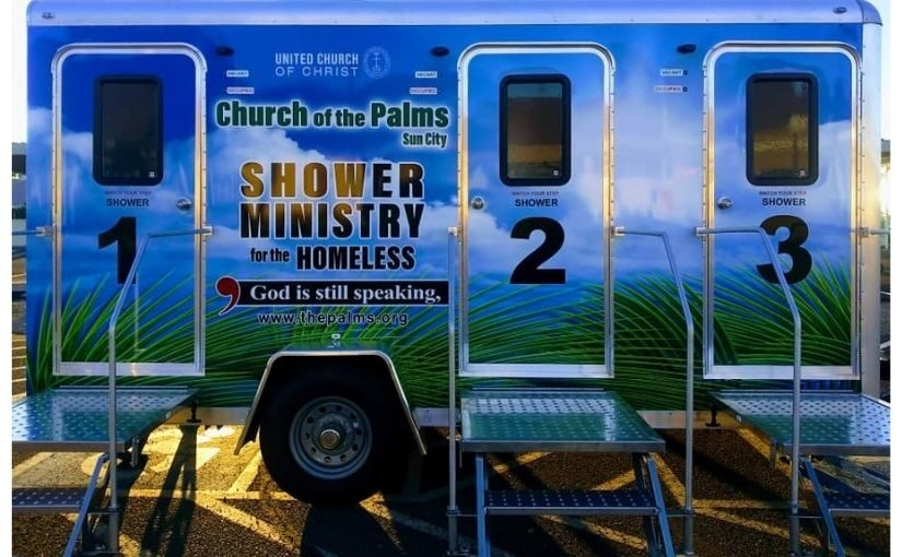 Church of the palmsl UCC shower trailer ministry Feet n More