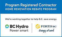 BC Hydro and Fortis BC registered HVAC contractor in British Columbia