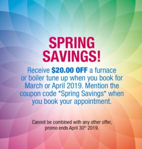 Spring Savings on Air Conditioning and home heating at Gandy installations