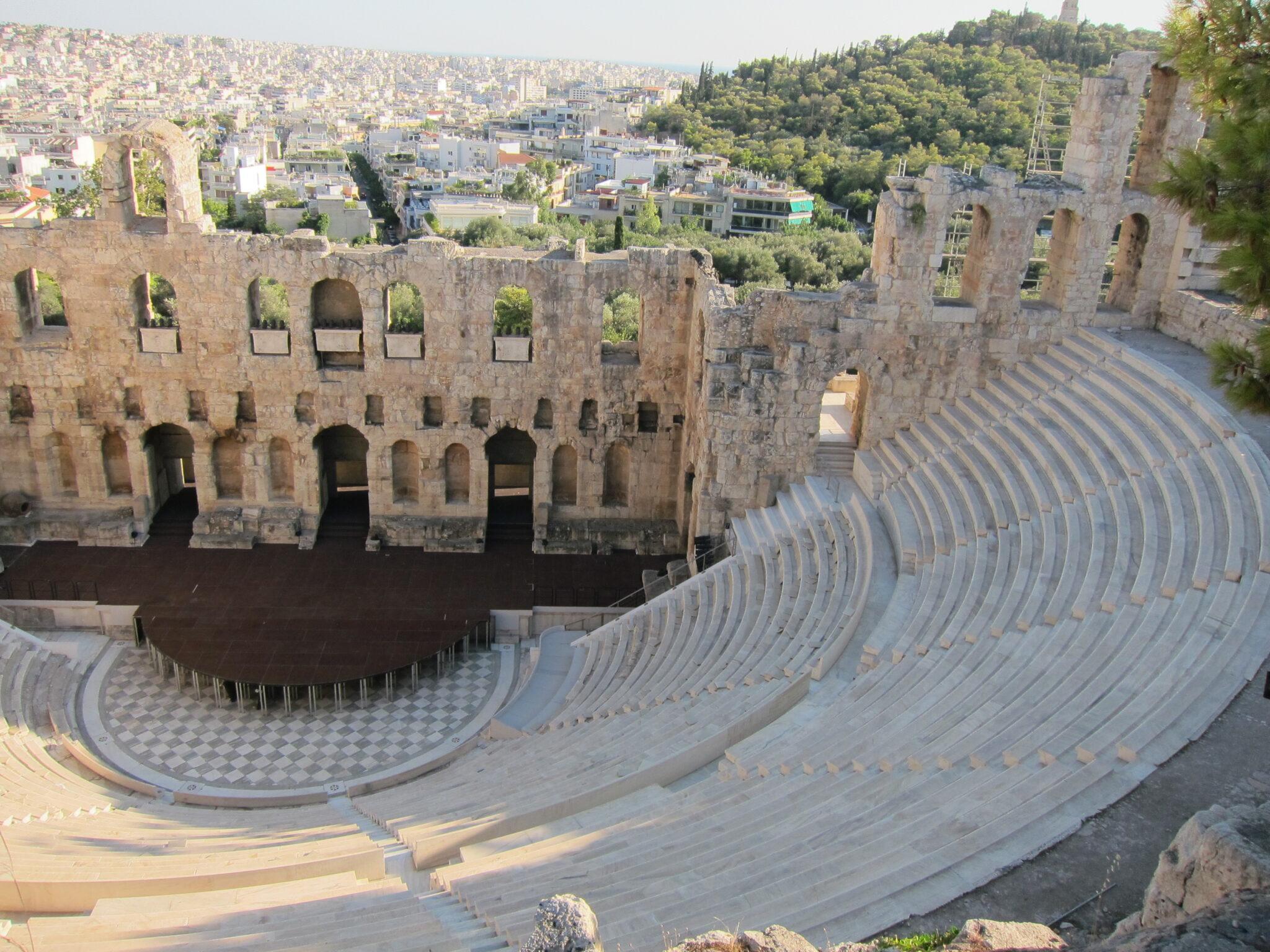 Herodus Atticus theater at Athens, Greece