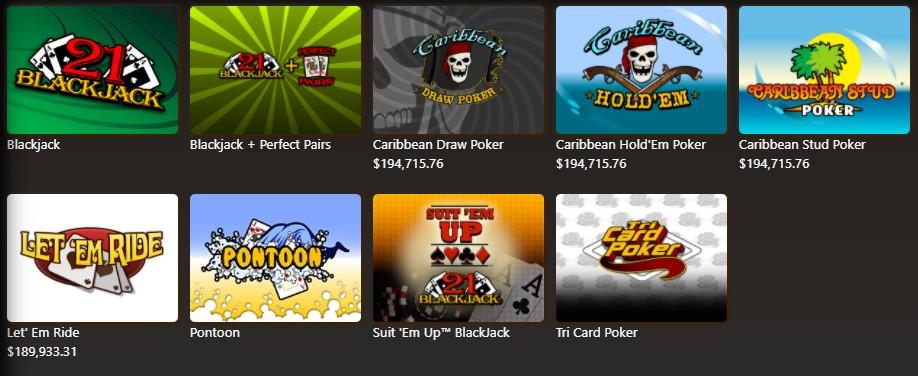 Casino Max Table Games