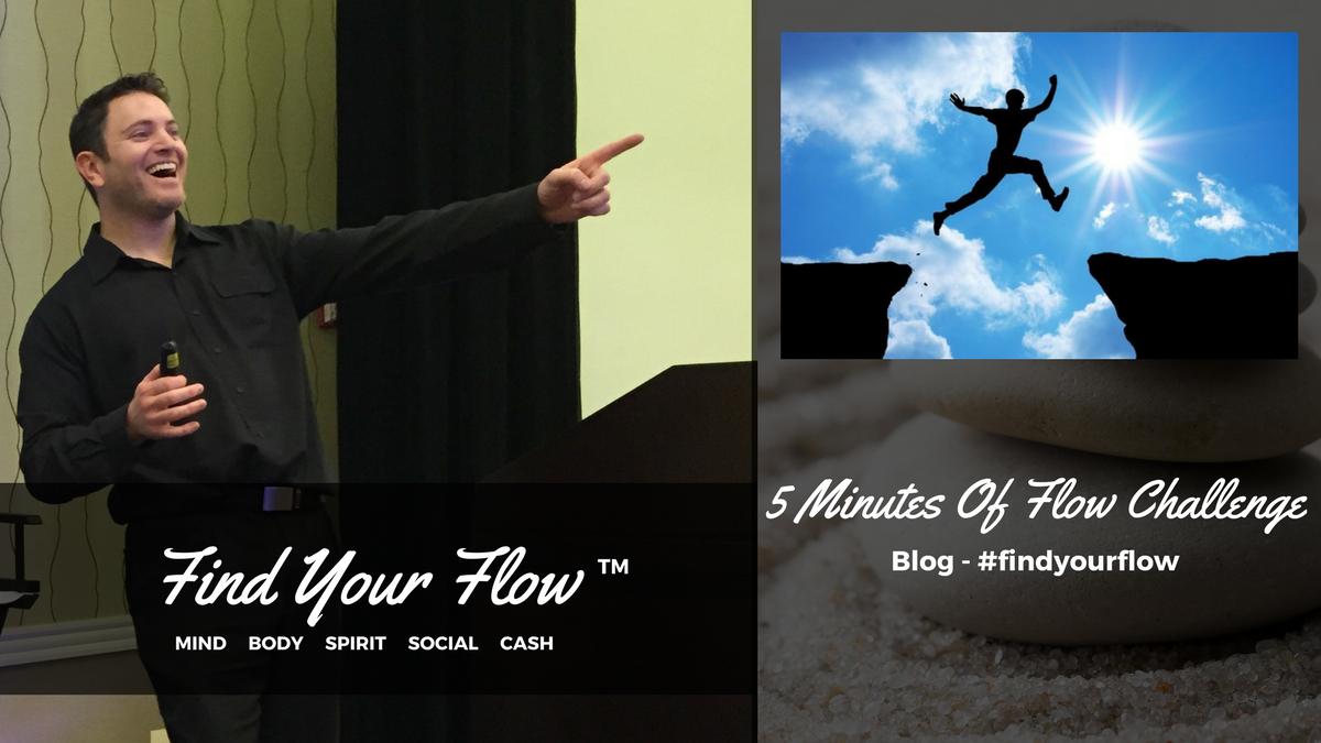 Find Your Flow Blog Winston Widdes -5 Minutes of Flow Challenge #findyourflow