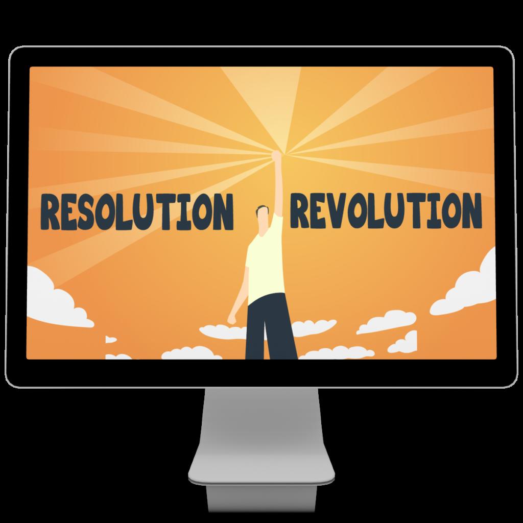 New Years Resolution Revolution computer screen