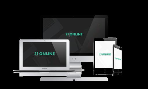 21 Day Online Marketing bundle graphic.