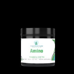 Find Your Flow brand Amino Acids Powder Drink Raspberry Iced Tea