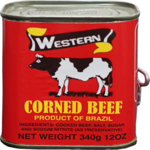 Salted corn beef