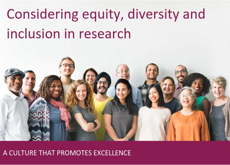 Considering Equity, Diversity, and Inclusion in Research