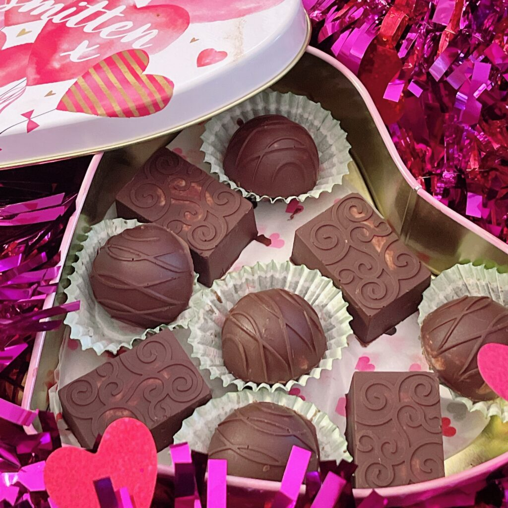 Sugar free, rich chocolate coating, and creamy strawberry filling.