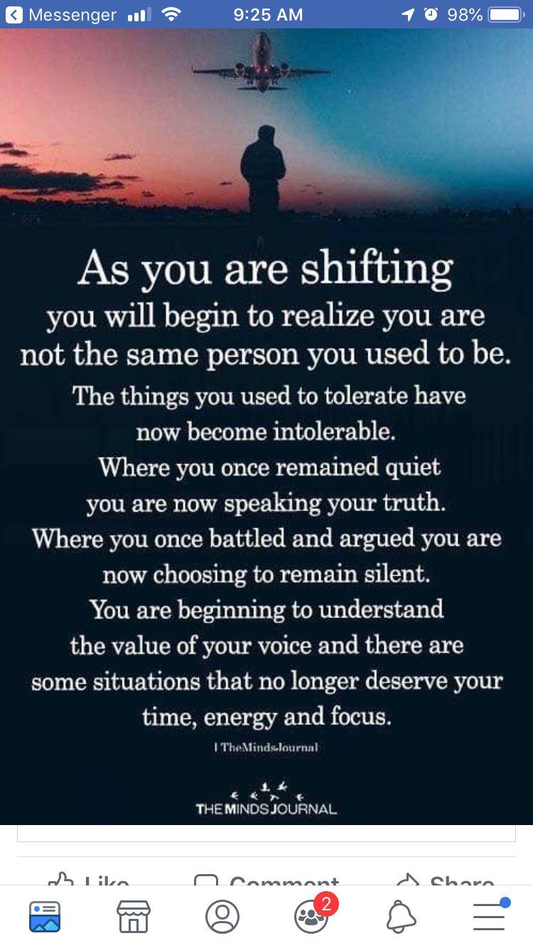 Maturing, changing, growing