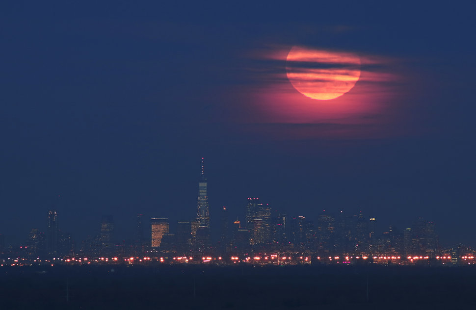 Did you see the Super Snow moon on Tuesday night?