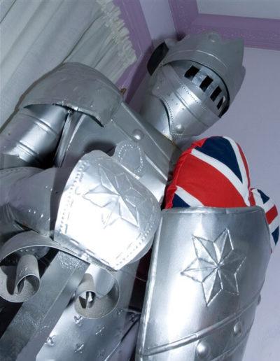 Sir Lancelot guards! | Little English Guesthouse B&B, Tallahassee, FL